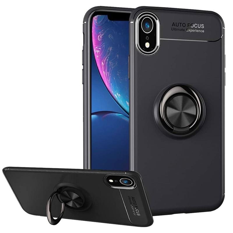 Mobiq Magnetic Ring Case iPhone XR Zwart - 1