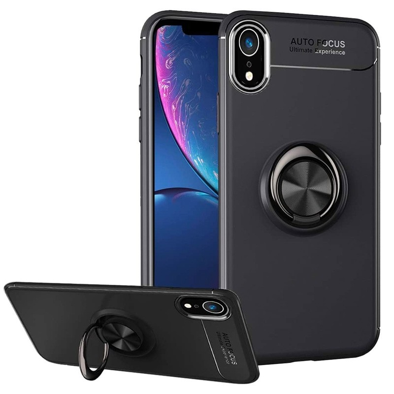 Mobiq Magnetic Ring Case iPhone X/XS Zwart - 1