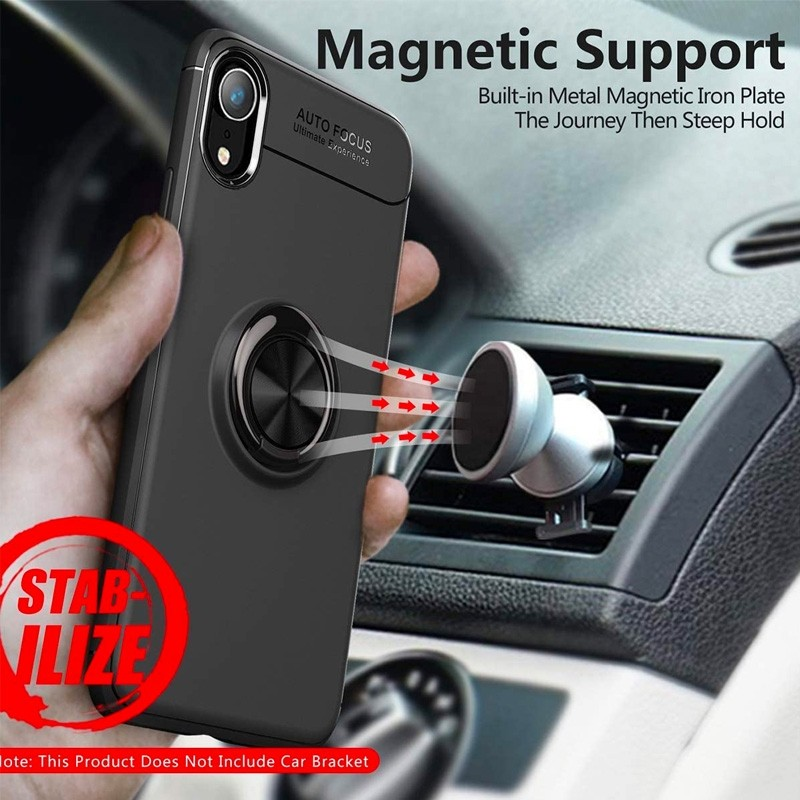 Mobiq Magnetic Ring Case iPhone X/XS Blauw - 2