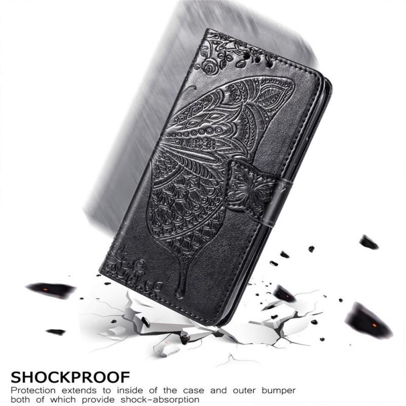 Mobiq Premium Butterfly Wallet Hoesje iPhone 12 6.1 inch Blauw - 4