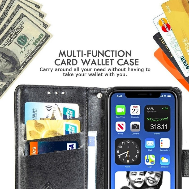 Mobiq Premium Butterfly Wallet Hoesje iPhone 12 6.1 inch Roze - 5