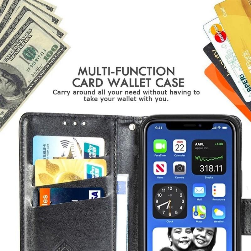 Mobiq Premium Butterfly Wallet Hoesje iPhone 12 6.1 inch Grijs - 5