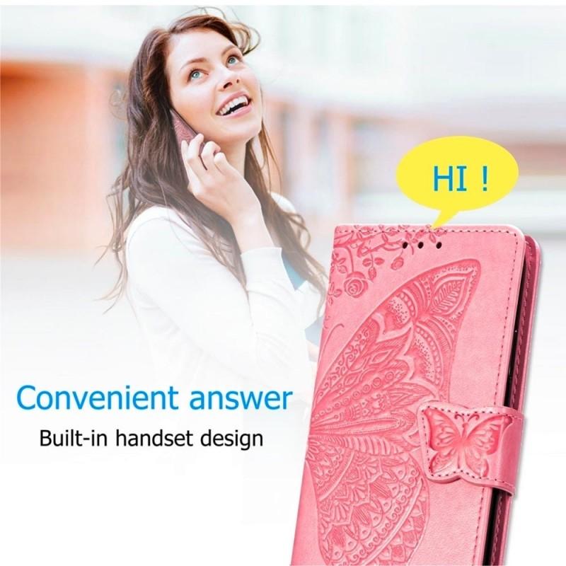 Mobiq Premium Butterfly Wallet Hoesje iPhone 12 6.1 inch Blauw - 6