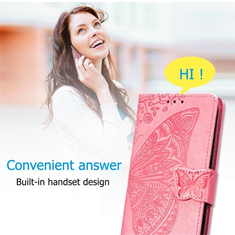 Mobiq Premium Butterfly Wallet Hoesje iPhone 12 6.1 inch Grijs - 7