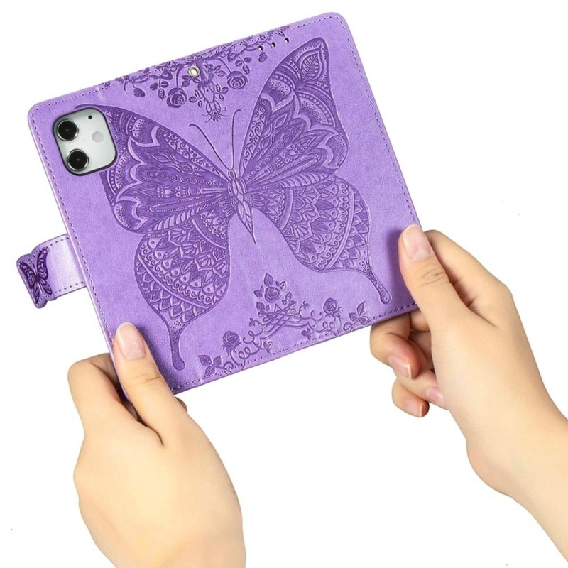 Mobiq Premium Butterfly Wallet Hoesje iPhone 12 Mini Lichtpaars - 2