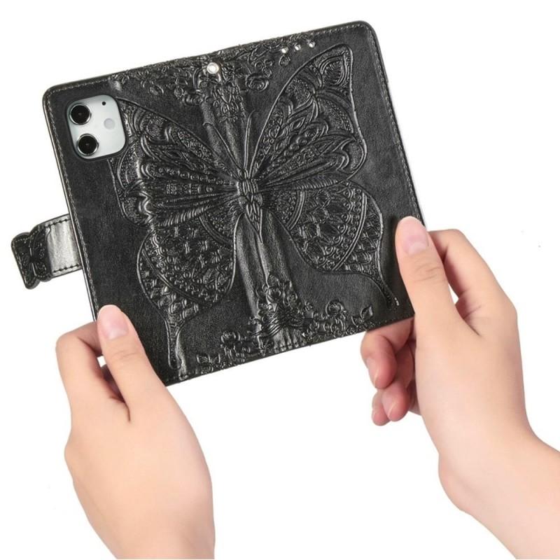 Mobiq Premium Butterfly Wallet Hoesje iPhone 12 Mini Zwart - 2