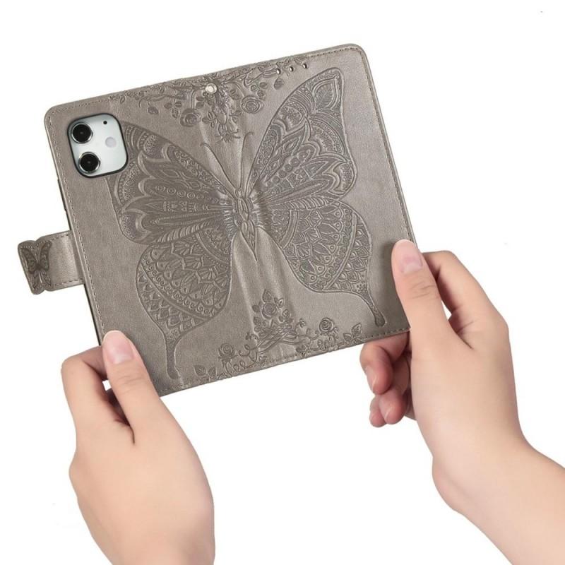 Mobiq Premium Butterfly Wallet Hoesje iPhone 12 Pro Max Grijs - 2