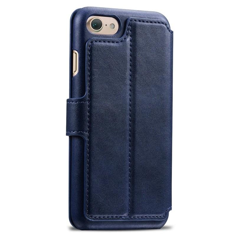 Mobiq Premium Lederen iPhone 8 / iPhone 7 Wallet hoes Blauw 02
