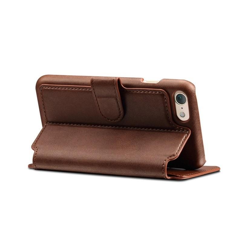 Mobiq Premium Lederen iPhone 8 / iPhone 7 Wallet hoes Bruin 04