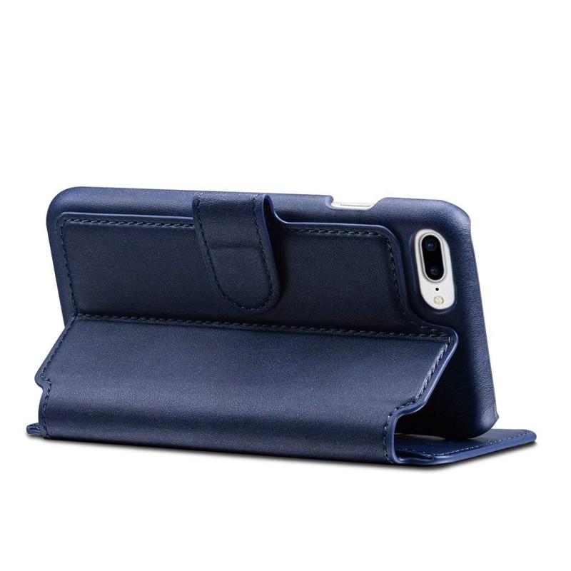 Mobiq Premium Lederen iPhone 8 Plus / 7 Plus hoes Blauw 04