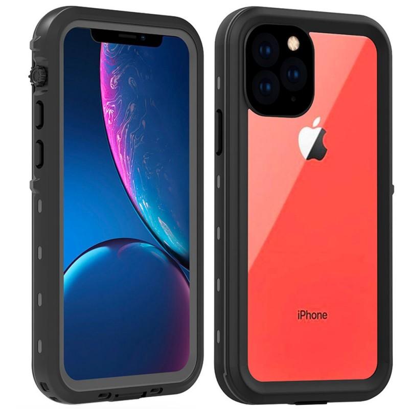 Mobiq - Waterdicht iPhone 11 Pro Hoesje Zwart - 1