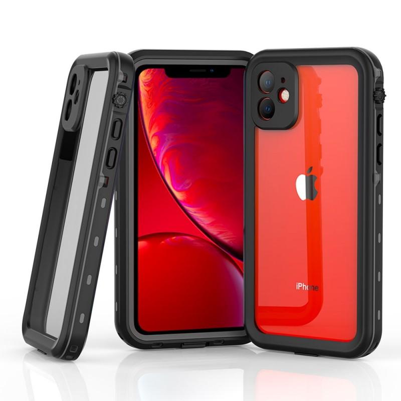 Mobiq - Waterdicht iPhone 11 Hoesje Zwart - 1