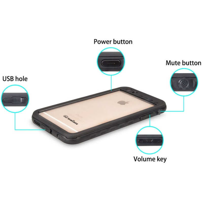 Mobiq - Waterdicht iPhone SE (2020)/8/7 Hoesje Zwart - 5