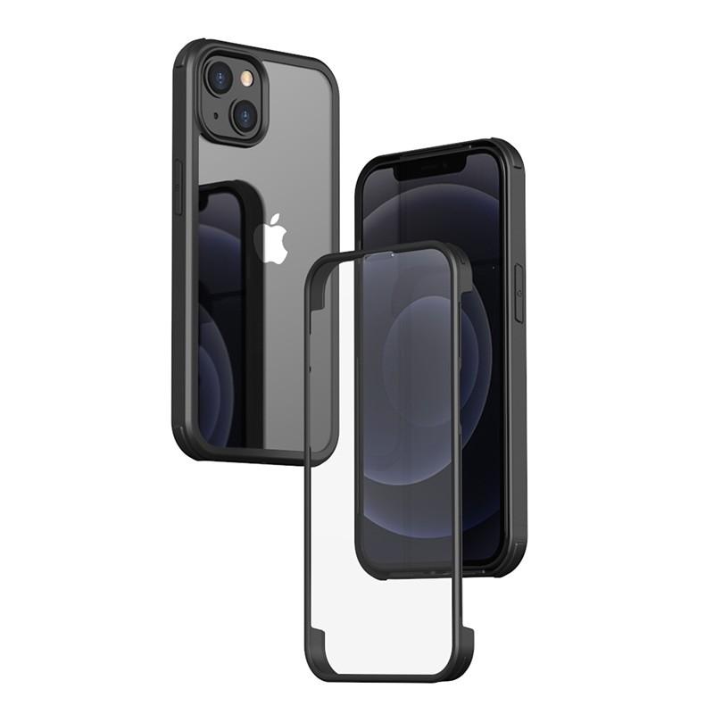 Mobiq Rugged 360 Graden Full Body Hoesje iPhone 13 Pro Max Zwart - 2