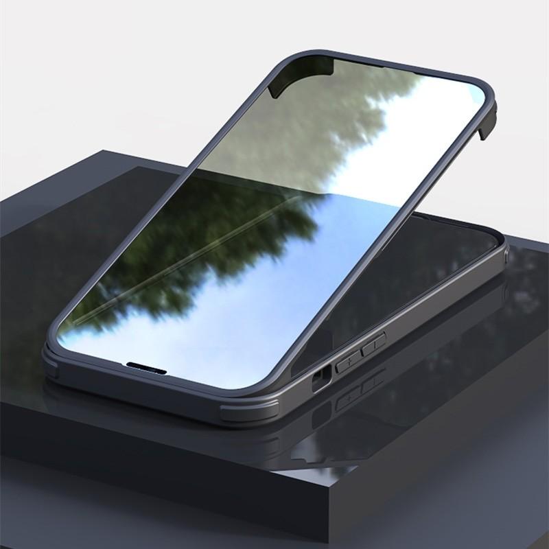 Mobiq Rugged 360 Graden Full Body Hoesje iPhone 13 Pro Max Zwart - 1