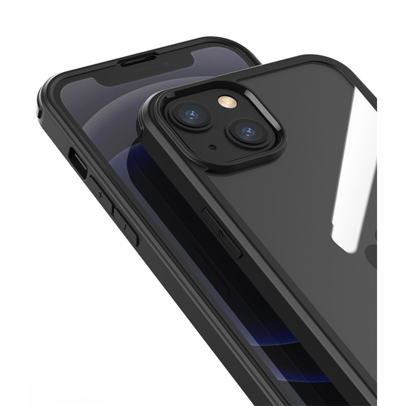 Mobiq Rugged 360 Graden Full Body Hoesje iPhone 13 Pro Max Zwart - 5