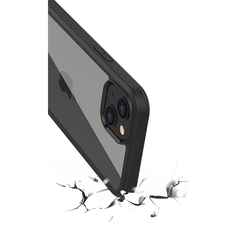 Mobiq Rugged 360 Graden Full Body Hoesje iPhone 13 Pro Max Zwart - 3