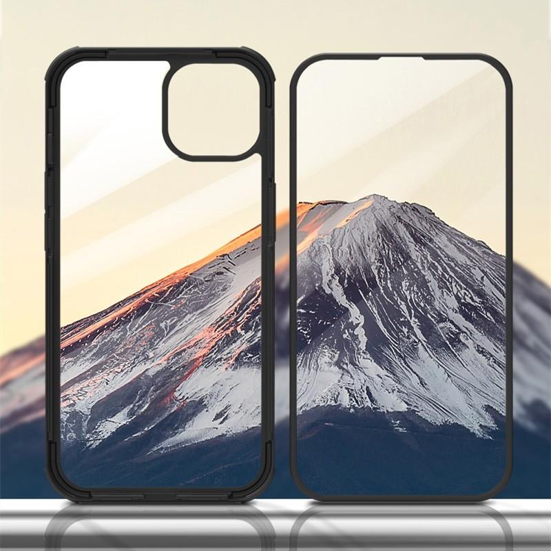 Mobiq Rugged 360 Graden Full Body Hoesje iPhone 13 Pro Max Zwart - 4
