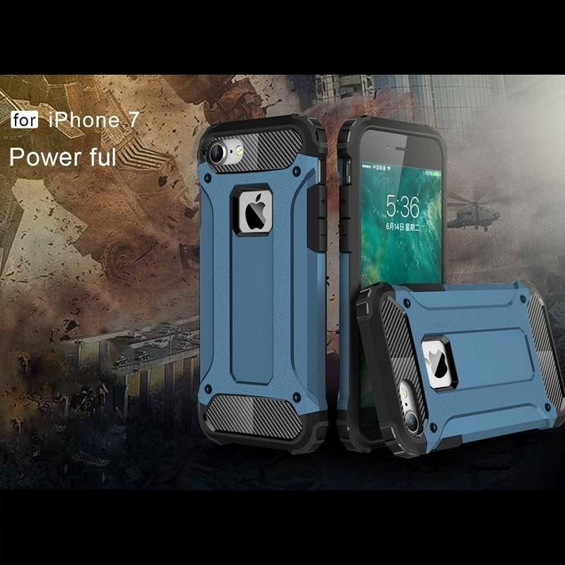 Mobiq - Rugged Armor Phone 8/7 Hoesje Blauw - 5