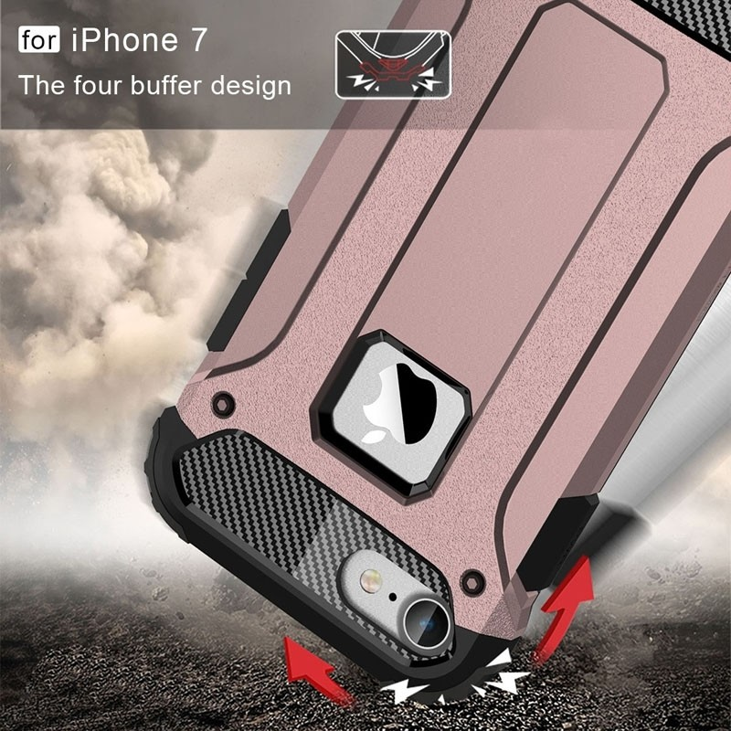 Mobiq - Rugged Armor Phone 8/7 Hoesje Rose Goud - 2