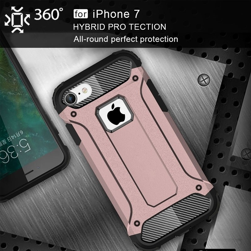 Mobiq - Rugged Armor Phone 8/7 Hoesje Rose Goud - 6