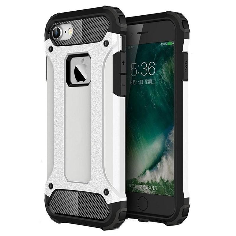 Mobiq - Rugged Armor Phone 8/7 Hoesje Wit - 1