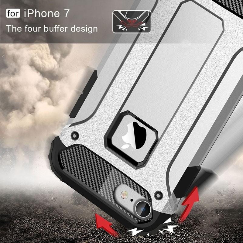 Mobiq - Rugged Armor Phone 8/7 Hoesje Zilver - 7