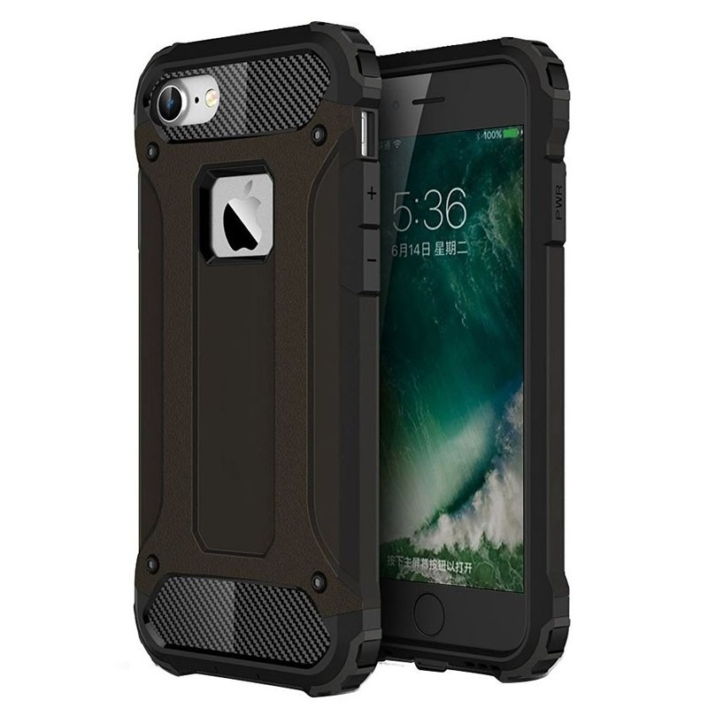 Mobiq - Rugged Armor Phone 8/7 Hoesje Zwart - 1