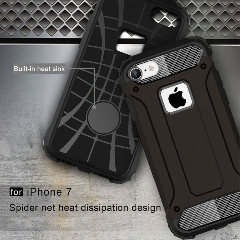 Mobiq - Rugged Armor Phone 8/7 Hoesje Zwart - 3