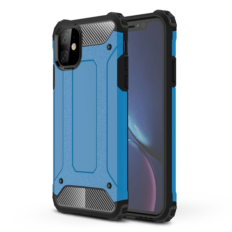 Mobiq Rugged Armor Case iPhone 11 Blauw - 1