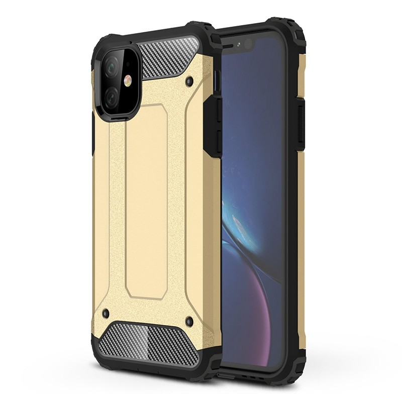 Mobiq Rugged Armor Case iPhone 11 Goud - 1