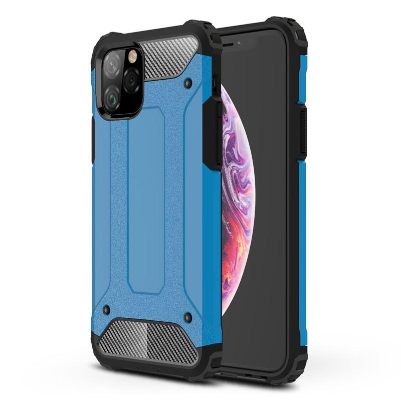 Mobiq Rugged Armor Case iPhone 11 Pro Blauw - 1
