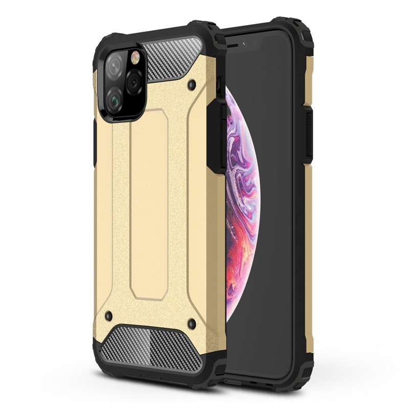 Mobiq Rugged Armor Case iPhone 11 Pro Goud - 1