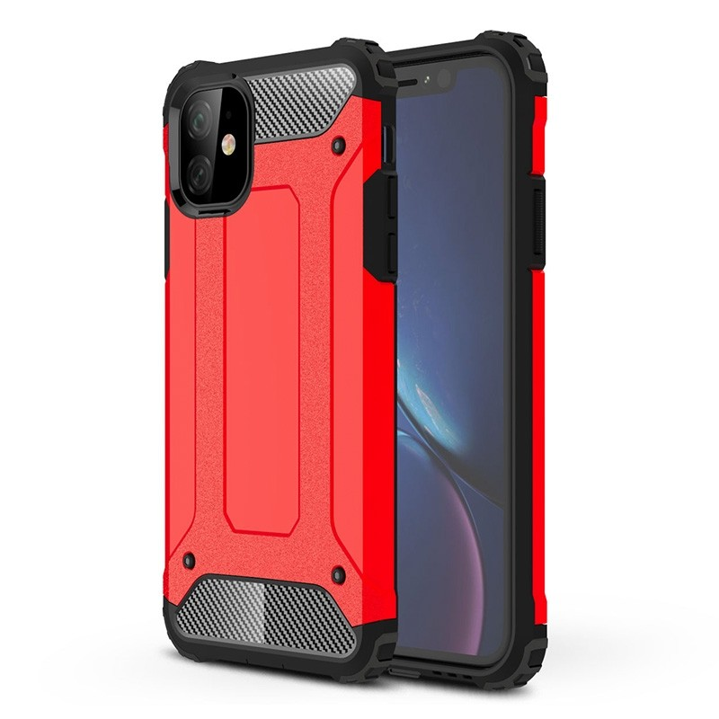 Mobiq Rugged Armor Case iPhone 11 Rood - 1