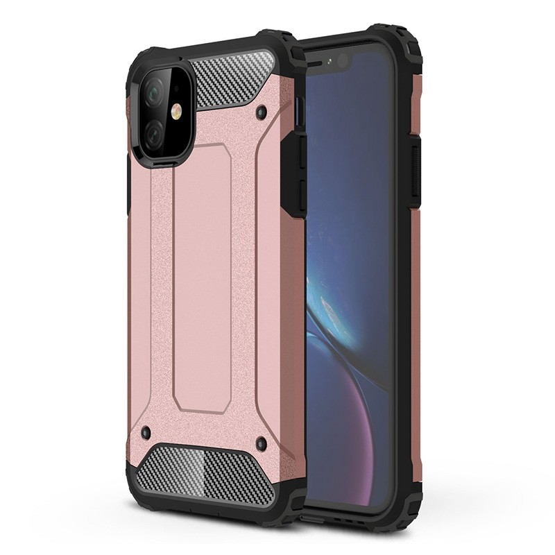 Mobiq Rugged Armor Case iPhone 11 Roze - 1