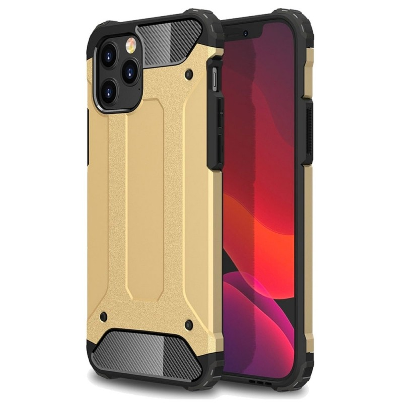 Mobiq - Rugged Armor Case iPhone 12 Pro Max Goud - 1