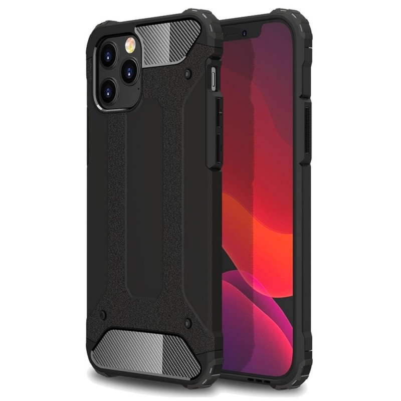 Mobiq - Rugged Armor Case iPhone 12 6.1 Zwart - 1