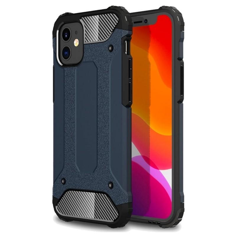 Mobiq - Rugged Armor Case iPhone 12 Mini Navy - 1