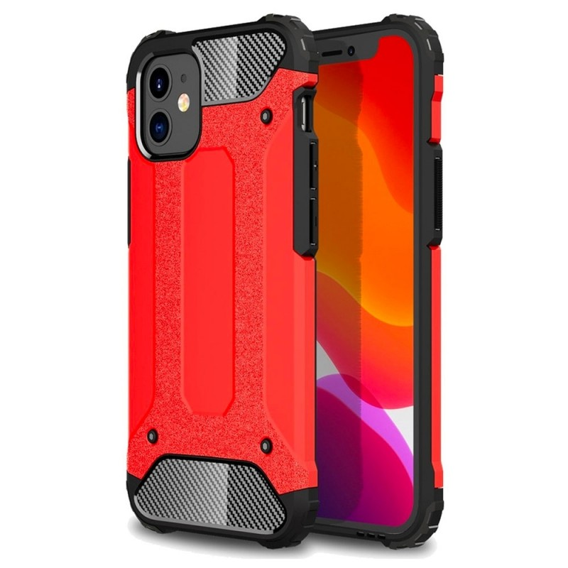 Mobiq - Rugged Armor Case iPhone 12 Mini Rood - 1