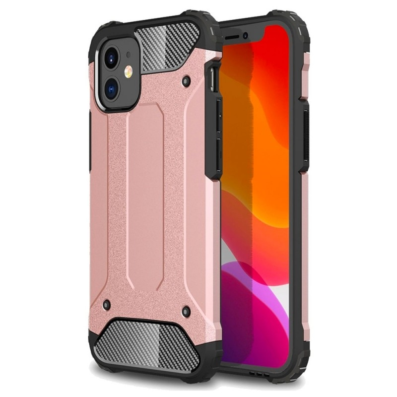 Mobiq - Rugged Armor Case iPhone 12 Mini Roze - 1