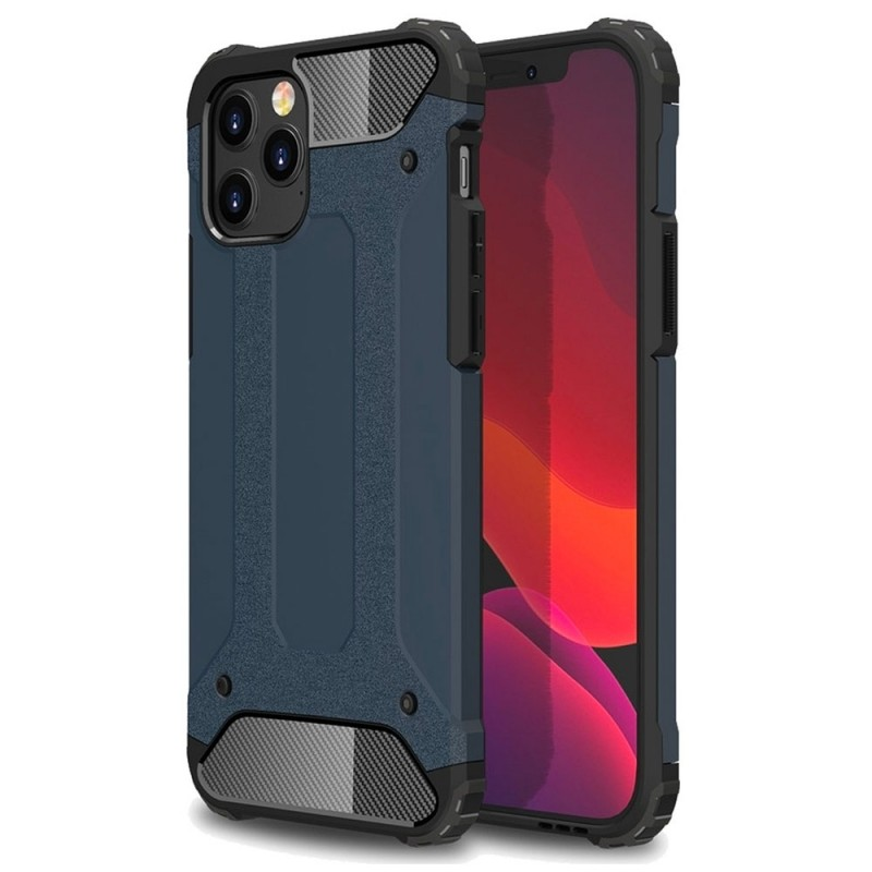 Mobiq - Rugged Armor Case iPhone 12 Pro Max Navy - 1