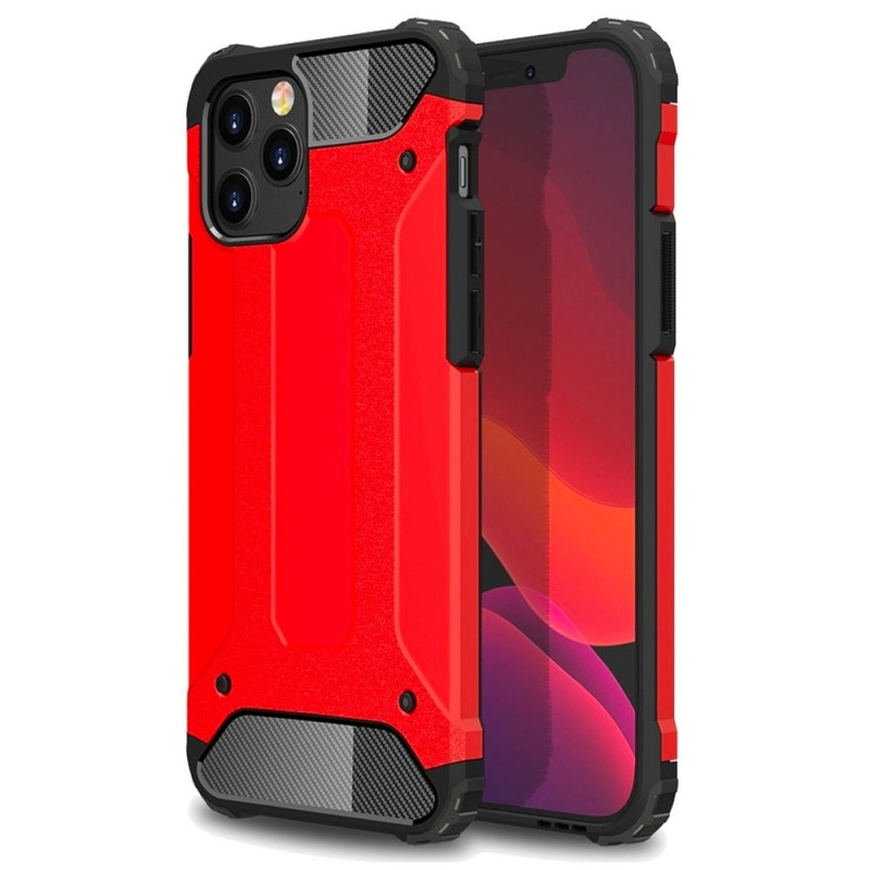 Mobiq - Rugged Armor Case iPhone 12 Pro Max Rood - 1
