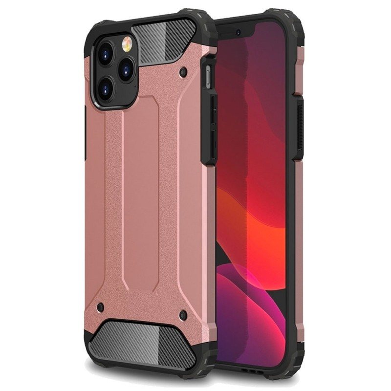 Mobiq - Rugged Armor Case iPhone 12 Pro Max Roze - 1