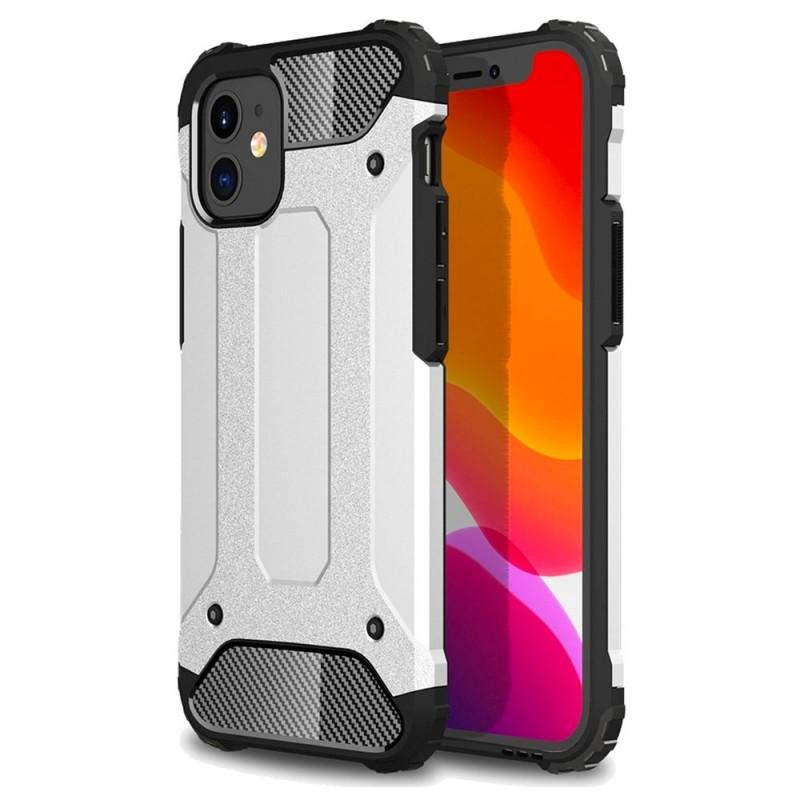 Mobiq Rugged Armor Hoesje iPhone 13 Mini Zilver - 1