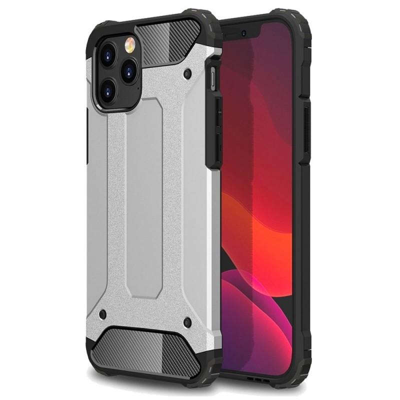 Mobiq Rugged Armor Hoesje iPhone 13 Zilver - 1