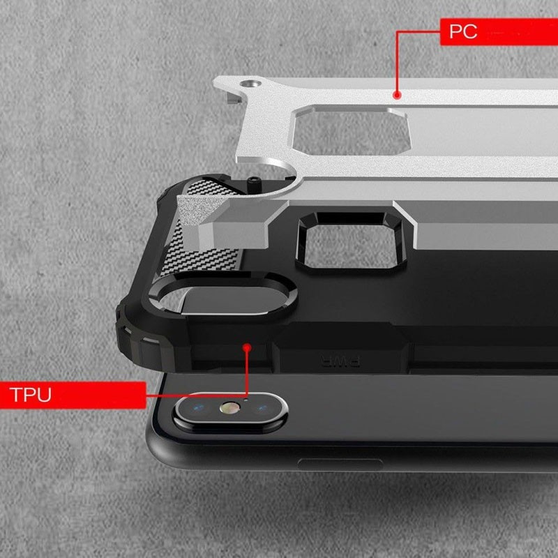 Mobiq Rugegd Armor Case iPhone X/Xs Blauw - 4