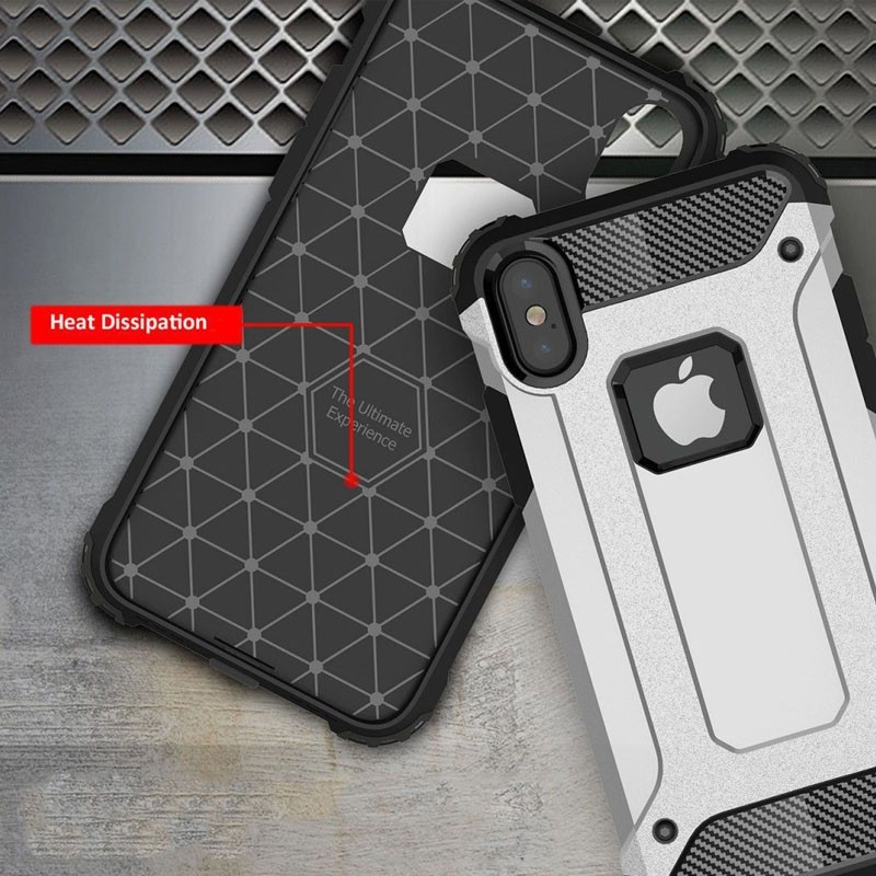 Mobiq Rugegd Armor Case iPhone X/Xs Rose - 5