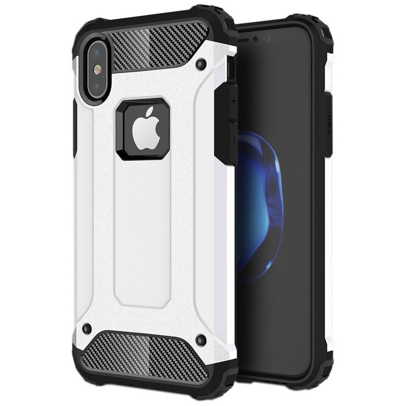 Mobiq Rugegd Armor Case iPhone X/Xs Wit  - 1