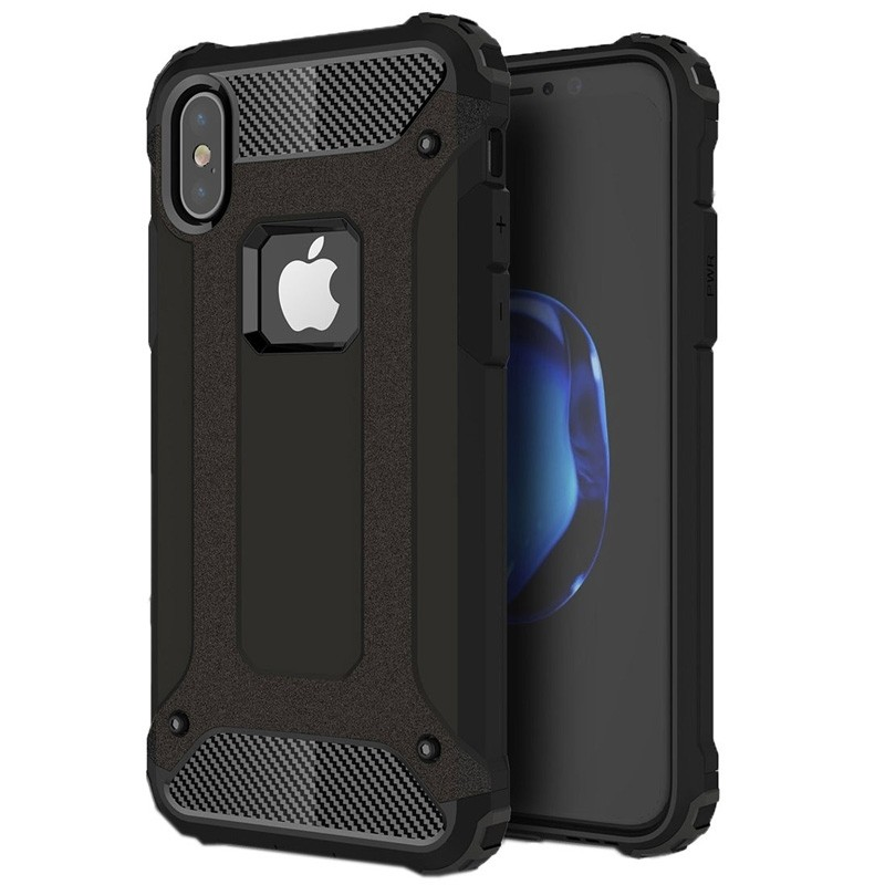 Mobiq Rugegd Armor Case iPhone X/Xs Zwart - 1