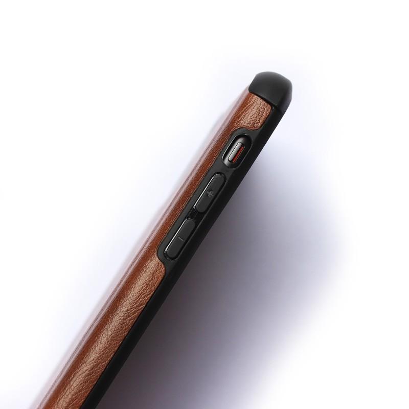 Mobiq Rugged PU Leather Case iPhone 12 / 12 Pro Bruin - 2